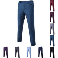 New Casual Mens Slim Advanced Luxury Business Dress Fit Wedding Formal Suit Pant