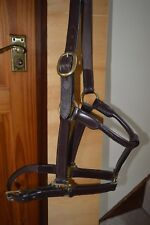 Leather Head collar Brown Brass Fittings