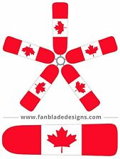 Canadian Flag Ceiling Fan Blade Covers