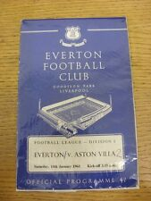 14/01/1961 Everton v Aston Villa  (Creased, Worn, Score Noted On Cover). Unless