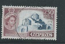 CYPRUS 1955 200MILLS FINE USED NICE CAT£13