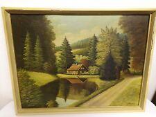 Ölgemälde auf Holz - Landschaft - A. AFTERMANN