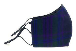Spirit Of Scotland Tartan Fabric TRIPLE Layered Reusable Washable Face Mask