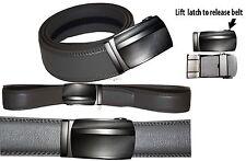 "Real Leather Men's Belt. 30"" Automatic lock. Dress + Casual belt. Fashion belt."