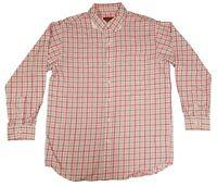 Walls Men's Button Down Work Shirt w/ Pink & White Plaid, Various Sizes