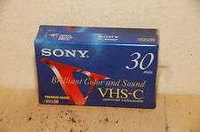 Sony VHS-C Premium Grade 30Min TC-30VHGF - New/Factory Sealed