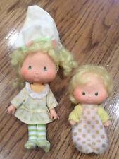 Vintage Strawberry Shortcake Butter Cookie and Lemon meringue Doll Free Ship