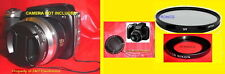 NEW SET To CAMERA NIKON COOLPIX P80 -> ADAPTER-RING+LENS CAP+UV FILTER 52mm