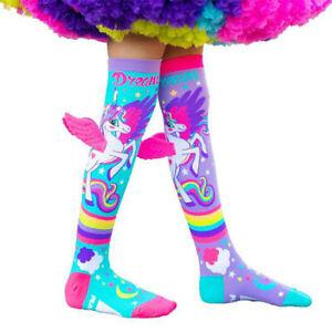 Kids baby Girls SOCKS Knee High Colorful Cartoon Wing Funky Long Socks