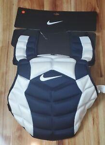 "NEW Nike Vapor Catcher's Chest 18"" Protector Blue White Penn State PSU Team 🔥"