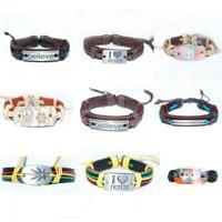 mode - charme männer frauen pu - leder manschette armband armband