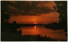 Sunset Charles Mill Lake Ohio Postcard