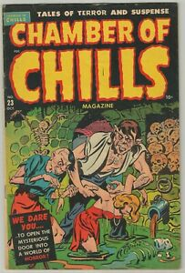 Chamber of Chills issue 23 (Harvey, 1951) Skulls cover and Torture panels!