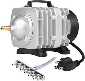 VIVOSUN Air Pump 950GPH 32W 60L/min 6 Outlet Commercial Air Pump