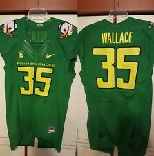 Wallace 2011 Oregon Ducks Nike Puddles Authentic Game Used Jersey Size 44