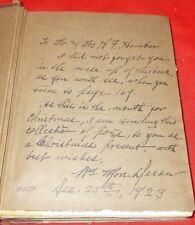 """Romance Of Niagara...""  William More Decker *1923* (Inscribed 1st Edition)"
