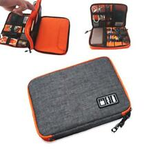 USB Cable Power Storage Portable Carry Case Organiser Bag For Tablet S Grey