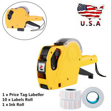 Mx-5500 8 Digits Price Tag Gun + 10 rolls White with Red lines labels +1 Ink Us