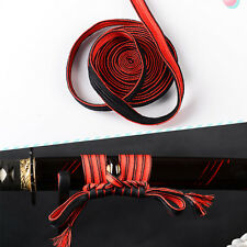 New Item Duotone Red & Black Synthetic Silk Sageo For Japanese Samurai Sword