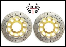 Front Brake Disc Rotors For Honda CBR 600 RR 2003-2015 Round Rotors Gold
