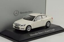 2011 Mercedes-Benz C Class Klasse Coupe C204 diamantweiss 1:43 Norev Dealer