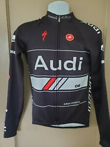 Audi Cycling Team Castelli Rosso Corsa Men's thermal jacket M NWOT Made in USA