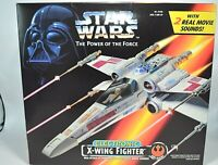 STAR WARS The Power of the Force ELECTRONIC X-WING FIGHTER * NIB * Kenner