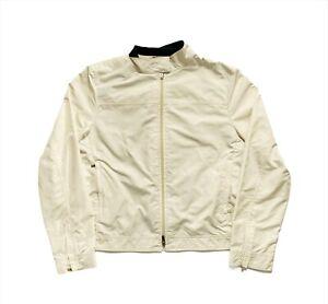 Women's 00's Ralph Lauren Golf Zip Up Bomber Jacket White/Cream - Medium