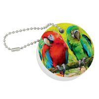 Colorful Tropical Rainforest Parrots Metal Whistle Bottle Opener Keychain