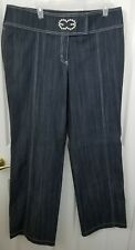 Escada Women's Wide Leg Dark Wash High Waist Tall Jeans Size EU 46 US 16