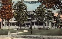 Postcard Trumpet Home in Anderson, Indiana~124952