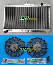 52mm Aluminum radiator + Fans for Mazda Miata MX5 MX-5 1998-2005 01 02 03 04 MT