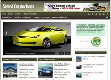 Seized Car Auction Niche Established Clickbank Affiliate Blog Website