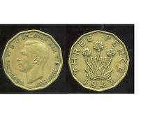 GREAT BRITAIN - ROYAUME UNI  three pence 1943  ( etat )