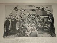 1896 Moteur Chambre Matelots Sur The Majestic Marine & Armée