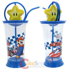 Super Mario Kart Tumbler Drinking Bottle with Crazy Straw - Swivel Star