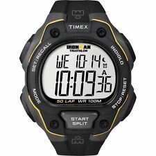 Timex T5K494, Men's Ironman Triathlon 50-Lap Resin Watch, Alarm, Indiglo, Chrono