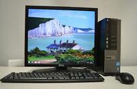 """Cheap Dell Dual Core/Core2Duo Desktop PC &17""""Monitor 4GB RAM 160HDD Win-10pro"""