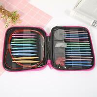 13 Pairs Aluminum Change Head Circular Knitting Needle Ring Set Woven Tool+Case