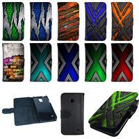 Handy Tasche Flip Cover Case Schutz Hülle Etui Schale Bumper Wallet Design Motiv