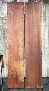 """2 Antique 9x48"""" Oak Table Leaves Repair Wood reclaimed salvage board lumber"""