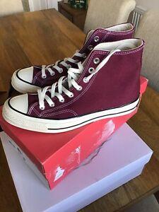 Converse Hi Tops Size 7 Dark Burgundy