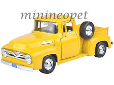 MOTORMAX 79341 1955 FORD F-100 PICK UP TRUCK 1/24 DIECAST MODEL CAR YELLOW