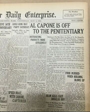 AL CAPONE - Mafia - Gangster - 1932 Massachusetts Newspaper