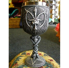 GOBLET OF BAPHOMET WINE GLASS Chalice GOTHIC Satan PAGAN Occult GOAT HORROR