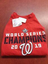 Washington Nationals 2019 World Series Champions T-Shirt Free Shipping sz Medium