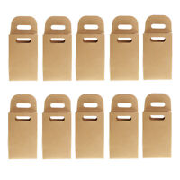 10pcs Kraft Paper Gift Box Bag Soap Candy Bakery Cake Biscuits Packaging Bag