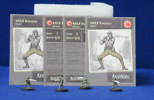 Axis & Allies Miniatures Contested Skies 4 SNLF Fanatics #41/45 + Stat Cards JP7