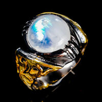 Handmade Ring Natural Moonstone 925 Sterling Silver Ring Size 8/R122506