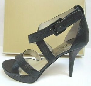 Michael Kors Size 9 Black Leather Heels New Womens Shoes
